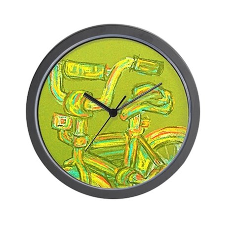 A Green Bike Wall Clock