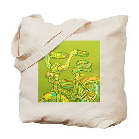 A Green Bike Tote Bag