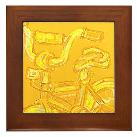 A Yellow Bike Framed Tile