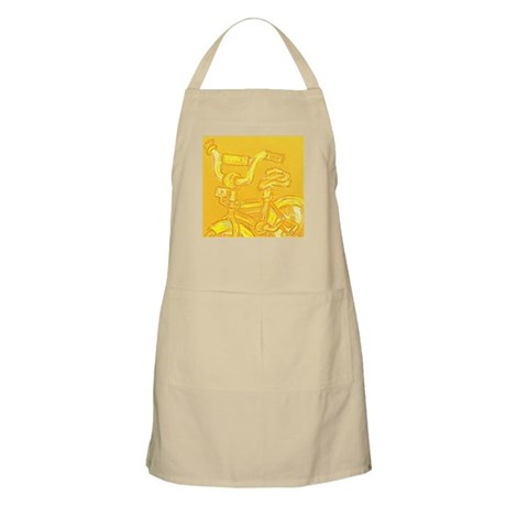 A Yellow Bike BBQ Apron