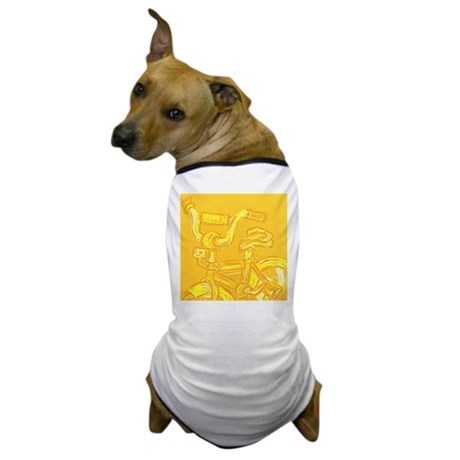 A Yellow Bike Dog T-Shirt