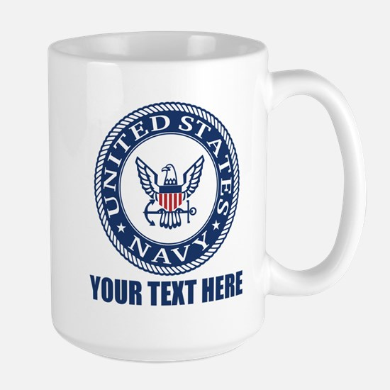 Personalized United States Navy Large Mug