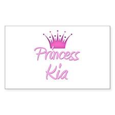 Princess Kia Rectangle Decal