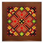 Folk Design 4 Framed Tile