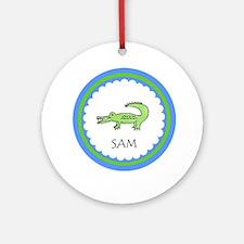 Personalized Alligator Ornament (Round)