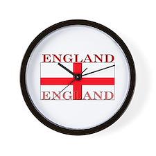 England English St. George Flag Wall Clock