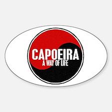 CAPOEIRA A Way Of Life Yin Yang Oval Decal