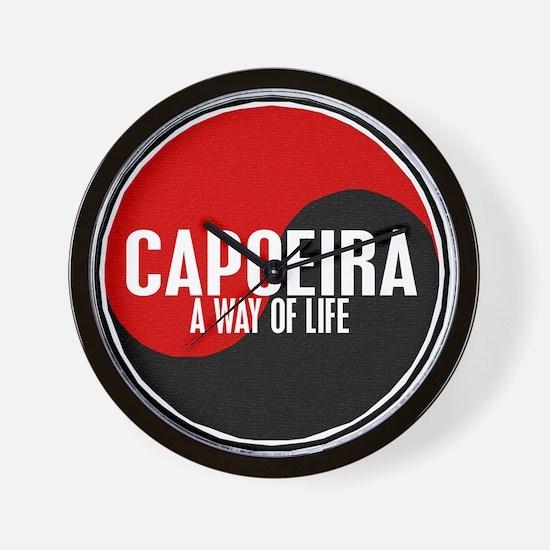 CAPOEIRA A Way Of Life Yin Yang Wall Clock