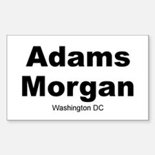 Adams Morgan Sticker (Rectangle)