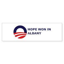 Hope Won in ALBANY Bumper Bumper Bumper Sticker