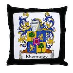 Khomutov Family Crest Throw Pillow