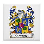 Khomutov Family Crest Tile Coaster
