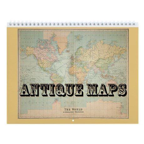 Antique Maps - 2018 Wall Calendar 16 month Premium Square 30x30cm (P)