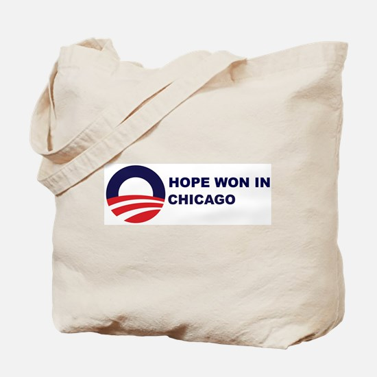 Hope Won in CHICAGO Tote Bag