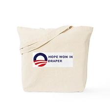 Hope Won in DRAPER Tote Bag