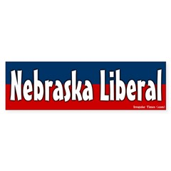 Nebraska liberal bumper sticker