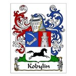 Kobylin Family Crest Small Poster