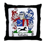 Kobylin Family Crest Throw Pillow