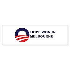 Hope Won in MELBOURNE Bumper Bumper Bumper Sticker