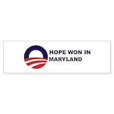 Hope Won in MARYLAND Bumper Bumper Bumper Sticker