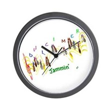 Dulcimers and Music Notes Wall Clock