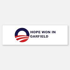 Hope Won in GARFIELD Bumper Bumper Bumper Sticker