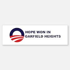 Hope Won in GARFIELD HEIGHTS Bumper Bumper Bumper Sticker