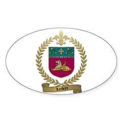 LECLERC Family Oval Decal