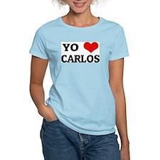 Amo (i love) Carlos Women's Pink T-Shirt