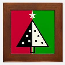 Pop Art Christmas Tree Framed Tile