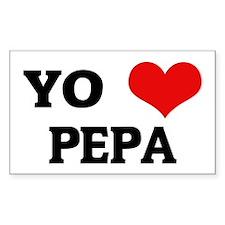 Amo (i love) Pepa Rectangle Decal