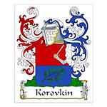 Korovkin Family Crest Small Poster