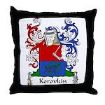 Korovkin Family Crest Throw Pillow