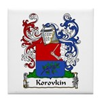 Korovkin Family Crest Tile Coaster