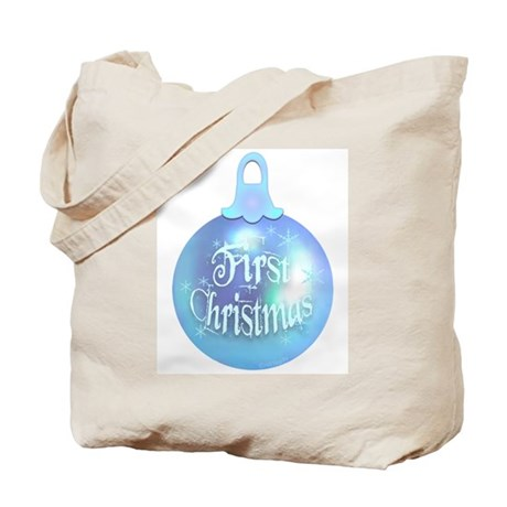 First Christmas (blue) Tote Bag