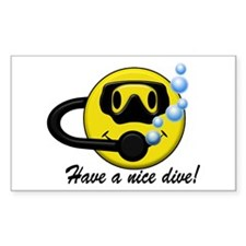 Have a Nice Dive! Rectangle Decal
