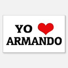 Amo (i love) Armando Rectangle Decal