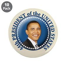 "President Obama inauguration 3.5"" Button (10"