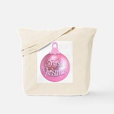 First Christmas (pink) Tote Bag