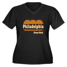 Philadelphia Cheesesteak Women's Plus Size V-Neck