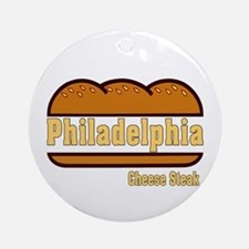 Philadelphia Cheesesteak Ornament (Round)
