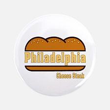 """Philadelphia Cheesesteak 3.5"""" Button"""
