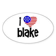 I Love James Blake Oval Decal