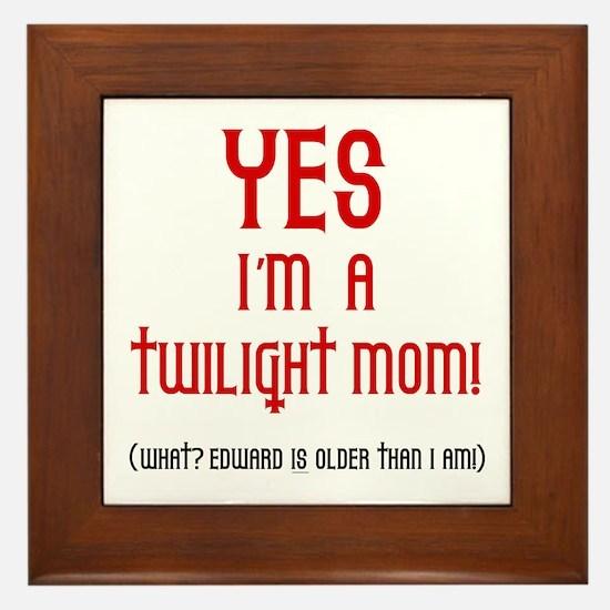 Twilight Mom Framed Tile