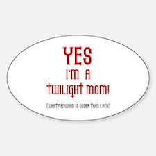 Twilight Mom Oval Bumper Stickers