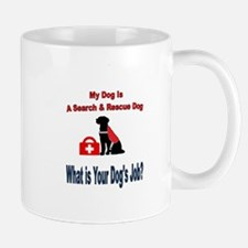 search and rescue dog Mugs