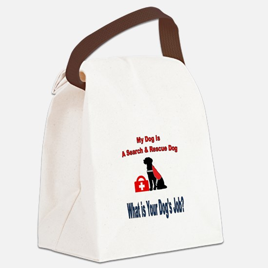 search and rescue dog Canvas Lunch Bag