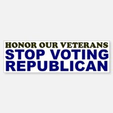 Honor Our Veterans Bumper Bumper Bumper Sticker