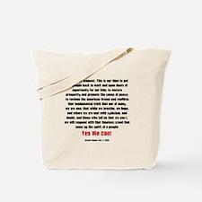 OBAMA SPEECH - grunge fashion Tote Bag