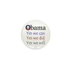 Obama: Yes we will Mini Button (10 pack)